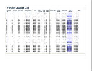 preferred vendor list template 4 free vendor list templates excel xlts