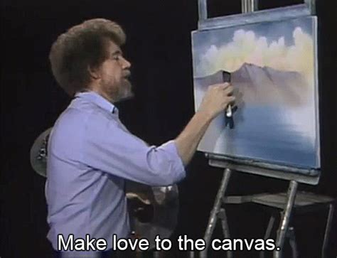 bob ross painting gif gif painting bob ross the of painting bobrossgifs