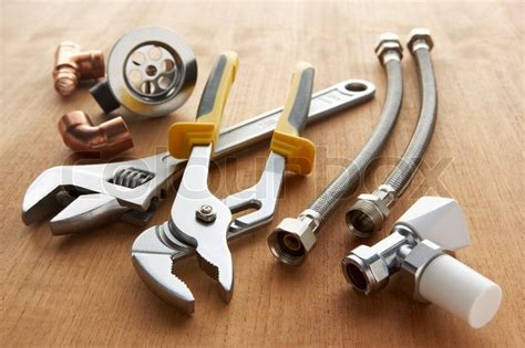Plumbing Material Supply by Plumbing Tools And Materials Stock Photo Colourbox
