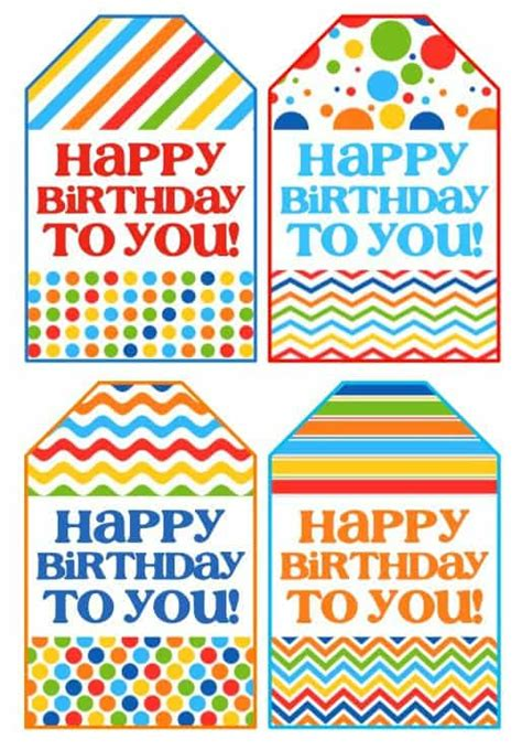 printable happy birthday name tags birthday gift in a jar happy go lucky