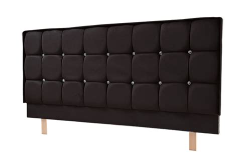black suede headboard crystal headboard s series in faux suede black brown or stone