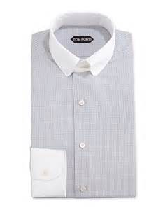 Tom Ford Shirts Tom Ford Tailored Fit Graph Check Dress Shirt In