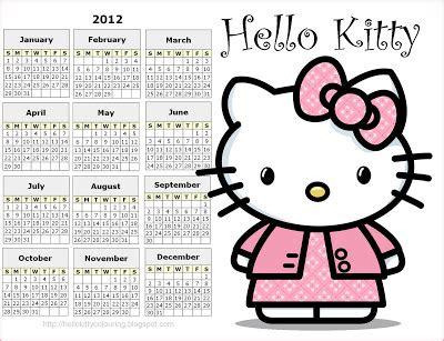 printable hello kitty planner 2012 calendar printable image search results