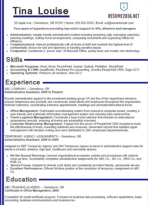best resume exles best sle resume 2016 sle resumes