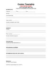 Post Incident Report Template by Incident Form Template Incident Report Template 34 Free