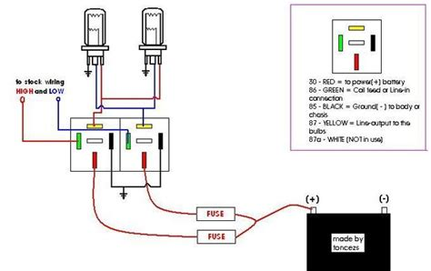 how to make a headlight wiring relay kit 2