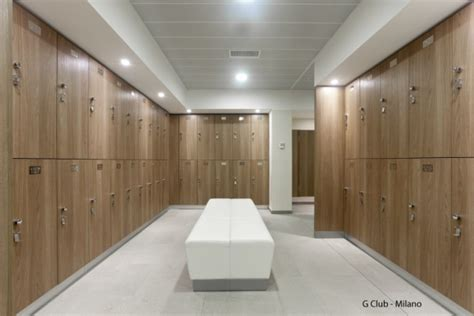 Changing Room by Fitinteriors Designs Changing Rooms For Many Luxury Health Clubs Including G Club In Milan