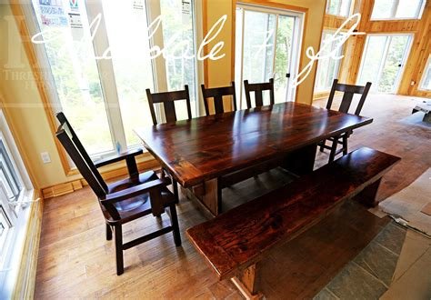desert lake ontario cottage trestle table with bench