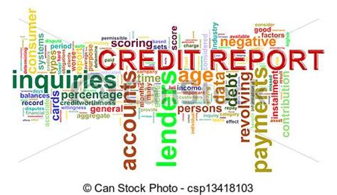 doodle free credit report stock illustration of credit report word tags