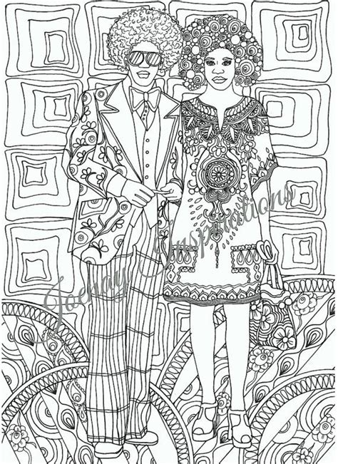 70s Coloring Page by Instant Printable I The 70s By
