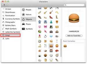 emoji mac access and use emoji in mac os x