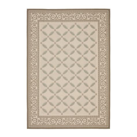 Indoor Outdoor Rugs Lowes Safavieh Cy7107 79a18 Courtyard Indoor Outdoor Area Rug Beige Lowe S Canada