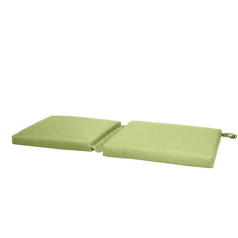 green bench cushion paradise cushions green solid outdoor rocker seat cushion