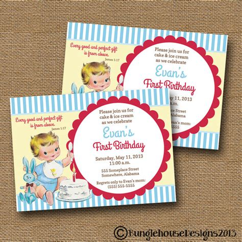 printable birthday cards with bible verses baby s first birthday invitation diy by bunglehousedesigns
