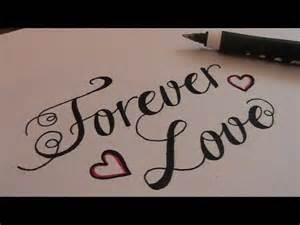 how to write in cursive fancy letters forever love youtube