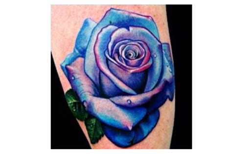 purple roses tattoos purple tattoos