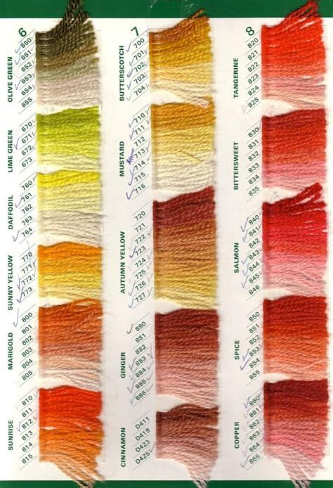i this yarn color chart paternayan yarn create in stitch