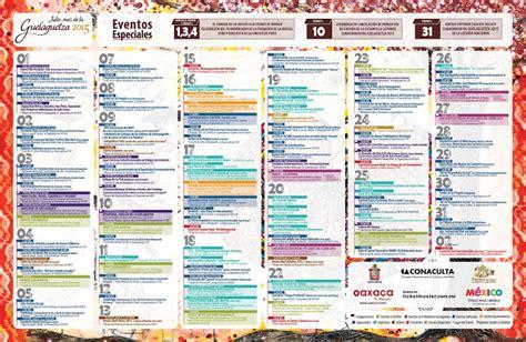 Calendario U Mayor 2015 06 01 2015 07 01 2015 Vive Oaxaca P 225 Oficial