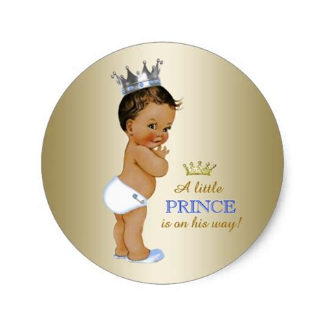A New Prince Baby Shower by Prince Baby Shower Classic Sticker Zazzle