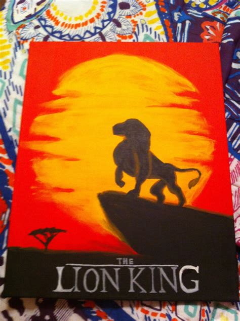 acrylic painting king items similar to disney the king inspired 16x20