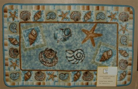 Seashell Bath Rug Sea Shell Bathroom Toilet Seat Cover Decor Rug Seashell Bath Home Toilets