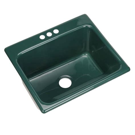 drop in utility sink thermocast kensington drop in acrylic 25 in 2 hole single