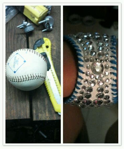 diy baseball bracelet paint rethread and bedazzle