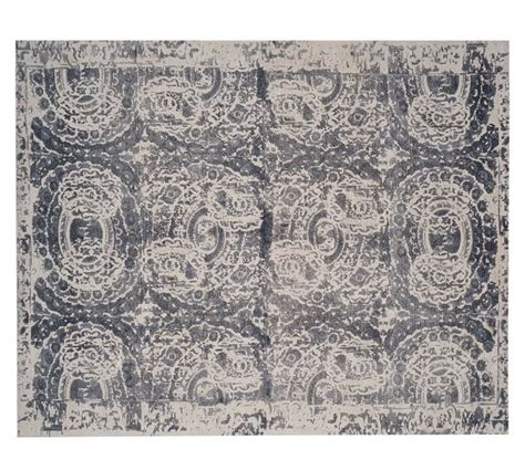 Pottery Barn Bosworth Rug Bosworth Printed Wool Rug Gray Pottery Barn
