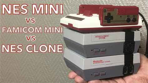 nes mini famicom mini nintendo 112 nintendo nes mini vs famicom mini vs nes clone