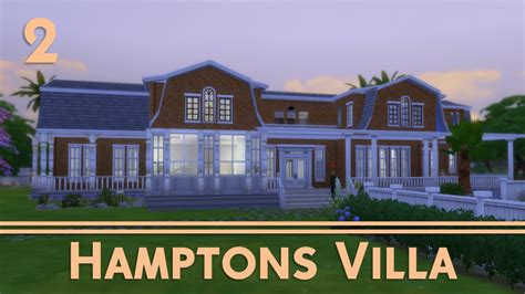 The Sims 4 House Building   Hamptons Villa (2/3)   YouTube