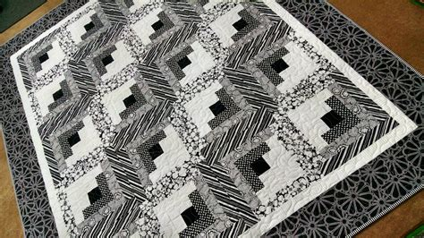 Black And White Quilts For Sale by On Sale Black And White Log Cabin Quilt