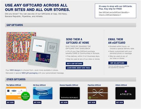 Can A Gap Gift Card Be Used At Old Navy - gap gift cards gap 174
