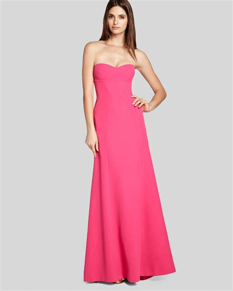 And Gown by Lyst Bcbgmaxazria Bcbg Max Azria Gown Strapless In Pink