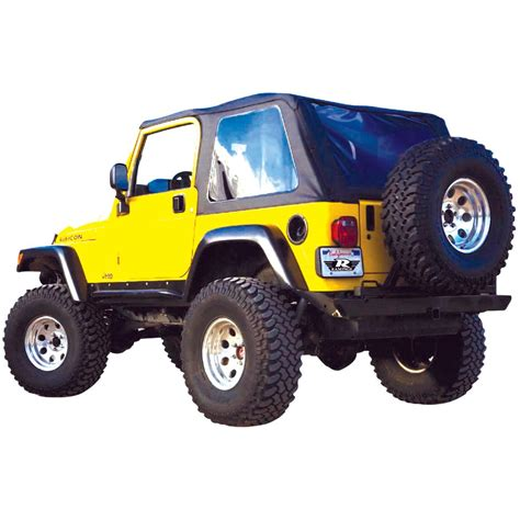 Jeep Wrangler 2004 Accessories Rage Soft Top New Black Jeep Wrangler 2004 2006 109635