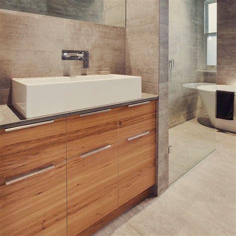 Caesarstone Bathroom Vanity Williamstown Rennovation Bathroom Vanity In Feature Grade Blackbutt Veneer And Clamshell