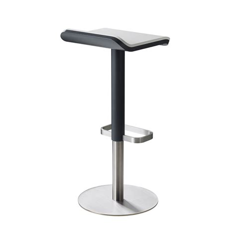 designer bar stool ed designer bar stools adjustable height anthracite white