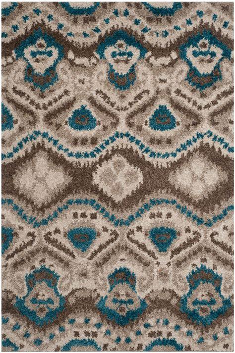 blue and brown shag rug brown blue tibetan shag safavieh