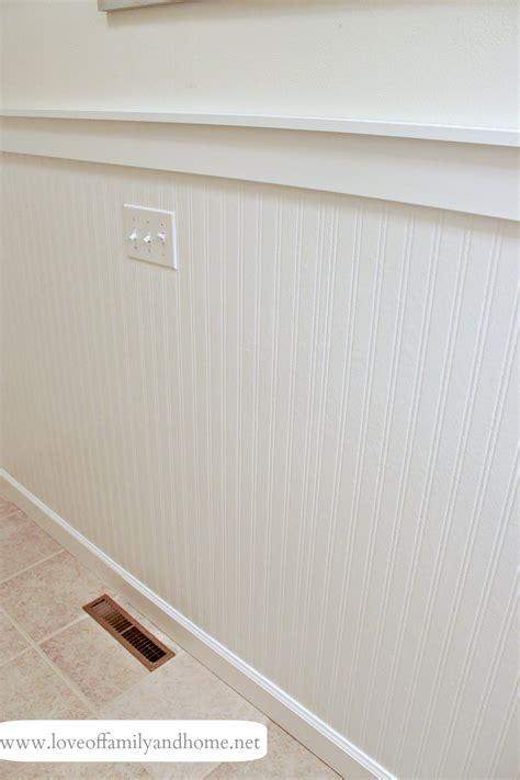 mdf beadboard in bathroom hallway bathroom makeover reveal love of family home