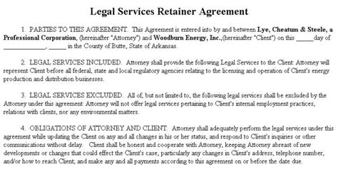retainer fee agreement template consulting retainer agreement templates templates
