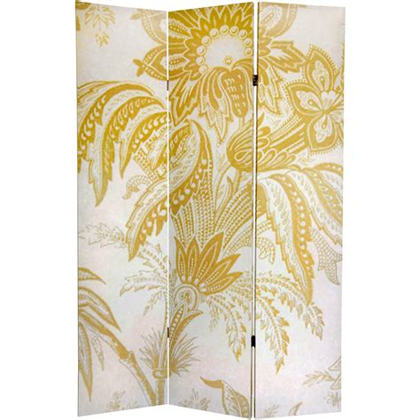 Gold Room Divider 6 Ft Gold Toile Sided Room Divider Roomdividers