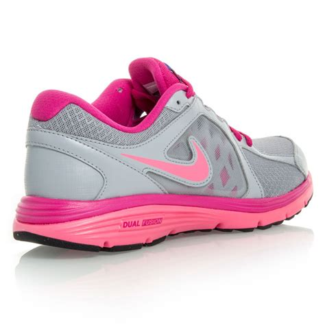 nike dual fusion run msl womens running shoes grey