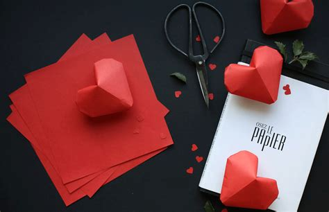 3d Hearts Origami - amazing 3d origami paper origami guide
