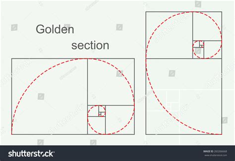 What Is The Golden Section by Golden Section 2d Illustration Vector Eps 8 283266668