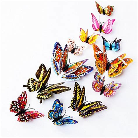 dagou 12 pcs 3d luminous dagou 12 pcs 3d luminous butterfly wall stickers decor