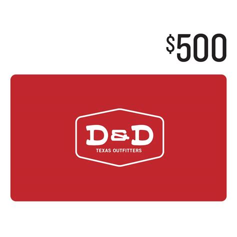 Gift Card 500 - d d 500 gift card