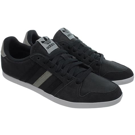 adidas adilago low s casual shoes black gray blue low top sneakers suede new ebay