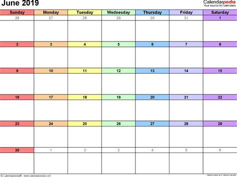 June 2019 Calendars For Word Excel Pdf Microsoft Word Calendar Template 2019