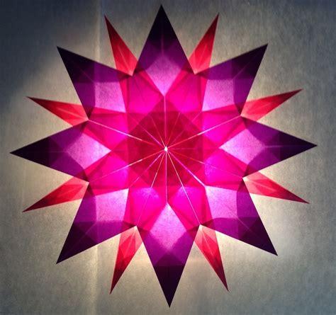 Basteln Sternen by Rosa Lila 16 Zacken Sterne Aus Transparentpapier
