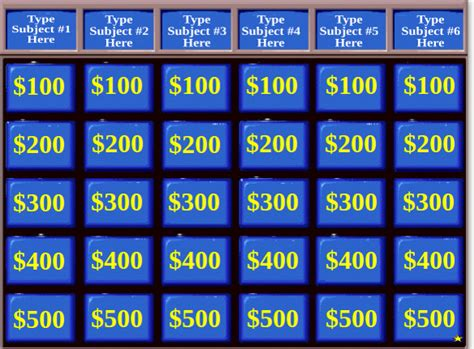 interactive jeopardy powerpoint template 10 jeopardy powerpoint templates free sle exle