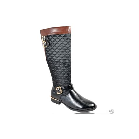 black boots with buckles black quilted gold buckle boots parisia fashion
